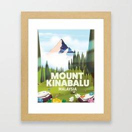Mount Kinabalu Malaysia Framed Art Print