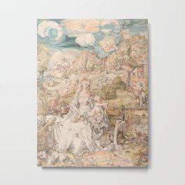 Albrecht Dürer - Mary among a Multitude of Animals Metal Print