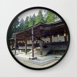 wooden shrine on Mount Koya Wall Clock