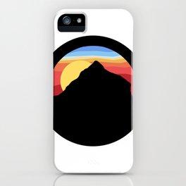 sunset mountain iPhone Case
