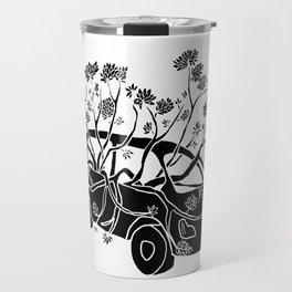 Break Free - Car With Tree Growing In It Illustration Travel Mug