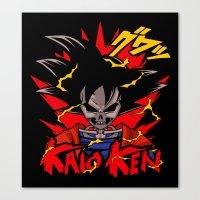 dbz Canvas Prints featuring Goku Skull DBZ by offbeatzombie