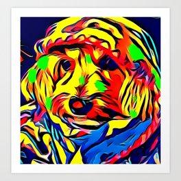 Havapoo Color Splash Art Art Print