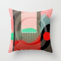 courage Throw Pillows featuring Courage by Kristine Rae Hanning