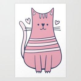 Cartoon Cute Cat Art Print