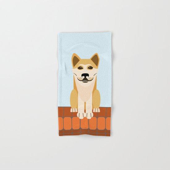 Shiba dog vector Hand & Bath Towel