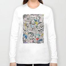 Kamasutra LOVE Doodle Closeup Color Valentine Long Sleeve T-shirt
