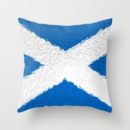 Extruded flag of Scotland Throw Pillow