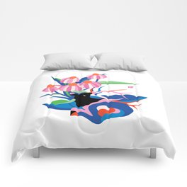 Elk trippin' Comforters