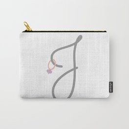 J Initial with Stitch Marker Carry-All Pouch