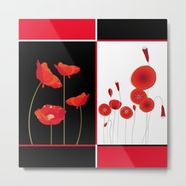 Graceful poppies Metal Print