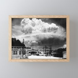 Mushroom Cloud Over Nagasaki From Koyagi-jima - WW2 - 1945 Framed Mini Art Print