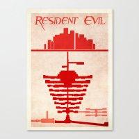 resident evil Canvas Prints featuring Resident Evil by JackEmmett