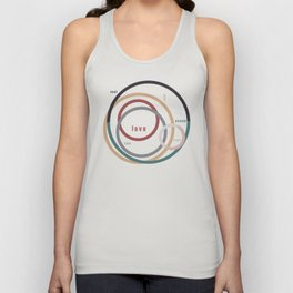for Love || words & circles Unisex Tank Top