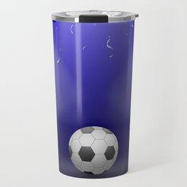 Celebration, Football in the spotlight Travel Mug
