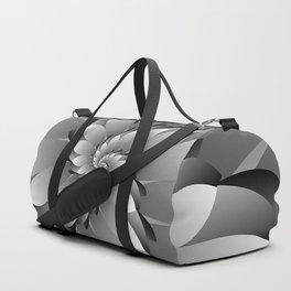 3D Black & Grey Spiral Art Duffle Bag