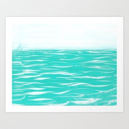 Sailing Across A Turquoise Sea Art Print