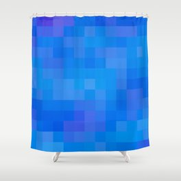 Re-Created Colored Squares No. 60 by Robert S. Lee Shower Curtain