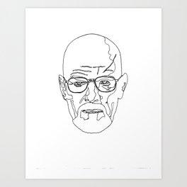 Walter Black and White Art Print