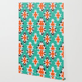 Triangles and diamonds in mint Wallpaper