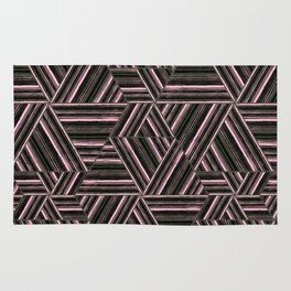 Abstract striped pattern. 2 Rug