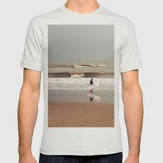 The surfer Mens Fitted Tee Silver SMALL