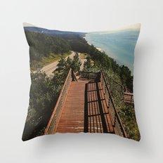 Lake Michigan Overview - Arcadia, MI Throw Pillow