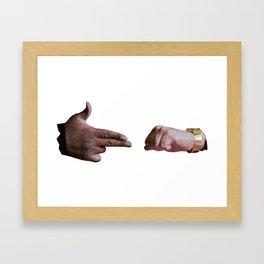 Run The Jewels low poly logo Framed Art Print