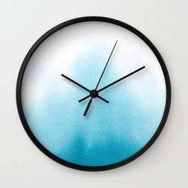 Turquoise Watercolor Wall Clock