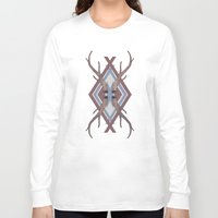 antlers Long Sleeve T-shirts featuring Antlers by Ben Bauchau