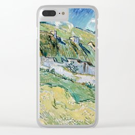 Thatched Cottages and Houses by Vincent van Gogh Clear iPhone Case