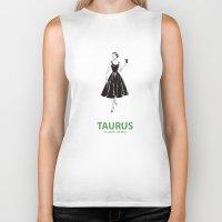 taurus Biker Tanks featuring Taurus by Cansu Girgin