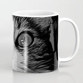 norwegian forest cat omg vector art black white Coffee Mug