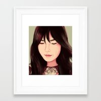 snsd Framed Art Prints featuring Tae by Kayla Nicole