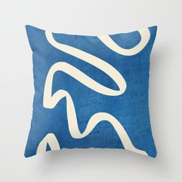 abstract minimal 31/Blue Throw Pillow