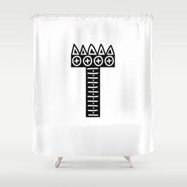 LETTER 'T' IMELA PRINT Shower Curtain