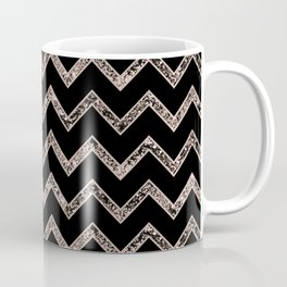 Chevron Glitter Glam #3 #shiny #decor #art #society6 Coffee Mug