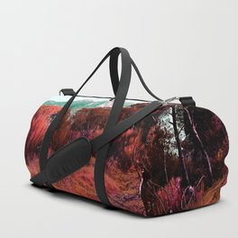 Red bright pink and orange alien landscape Duffle Bag
