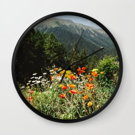 Mountain garden Wall Clock