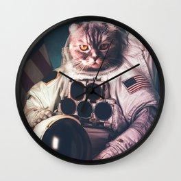 Cat Astronaut Wall Clock