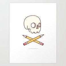 Designer Skull Art Print