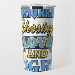 Hanukkah Blessings Love and Light Travel Mug