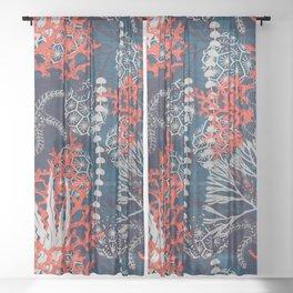 Corals and Starfish Sheer Curtain