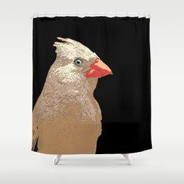 Paper Cardinal Shower Curtain