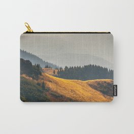 Parallax Landscape Rolling Hills Photo Nature In Morning Sunlight Carry-All Pouch