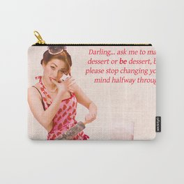 """""""Make Up Your Mind"""" - The Playful Pinup - Baking Housewife Pinup by Maxwell H. Johnson Carry-All Pouch"""