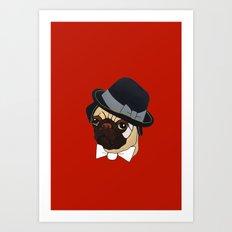 Homburg Pug Art Print