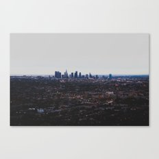 Los Angeles in fog Canvas Print