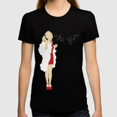 Clueless Black Womens Fitted Tee SMALL