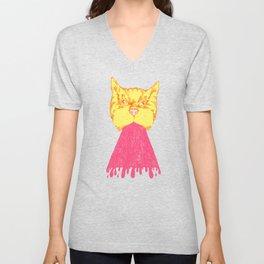 Pink Cat Vomit Unisex V-Neck